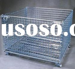 Warehouse Stackable Wire Mesh storage cage