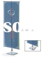aluminum alloy adjustable wall picture shelf/double side banner stand