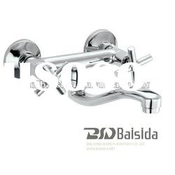 brass single lever wall mounted sink mixer