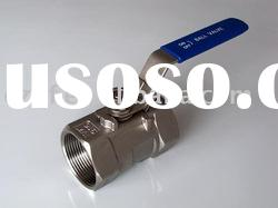 china qunfeng high quality 1pc stainless steel screwed ball valve