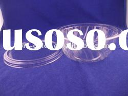 clear plastic salad bowl