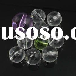 colourful transparent round acrylic beads
