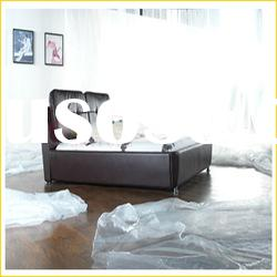 europe high quality brown leather bed DG872#