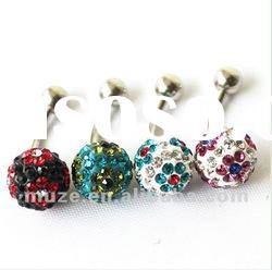 fashion 316l multi crystal ball navel belly ring body jewelry piercing