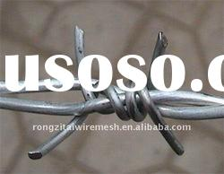 hot dipped galvanized and pvc coated and spray barbed wire roller