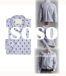 light color cotton fashion long sleeve printed beautiful man shirt