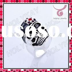 new fashion silver skull shape ring, Halloween rings,latest rings jewellry