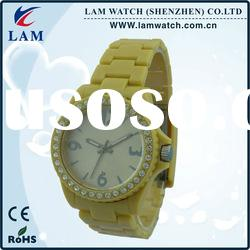 popular water resistant quartz diamond watch
