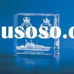 square clear crystal 3d laser etched paperweight