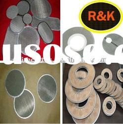stainless steel wire mesh screen filter discs