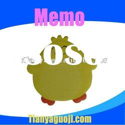 student&office colorful shaped chicken memo pad /sticky notes