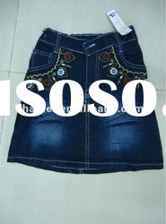 young girl denim jeans skirt