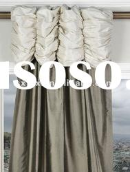 100%Polyester Solid Faux Silk Taffeta Curtain Ruched Curtain