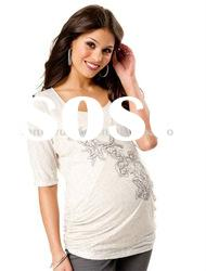 100%cotton printed fashion maternity shirt