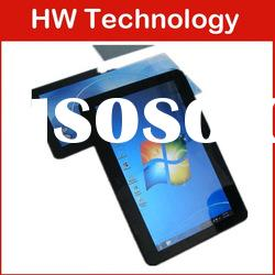 10.1 inch fly touch screen windows 7 and Android dual os tablet pc with sim card slot for phone call