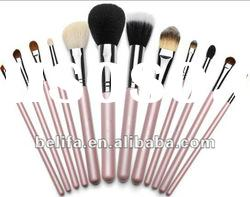 12 pink pce professional cosmetic makeup brush set with case