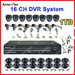 16 CH Channel Home Vision DVR System Indoor & Outdoor Camera SHARP CCD 420TVL CCTV System