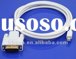 1.8M Mini DisplayPort to DVI Cable Gold Plated