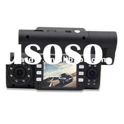2012 HOT SALE x4000 dual camera car DVR, 2.0 TFT LCD
