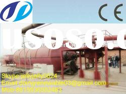 2012 New Doing 5/6/8/10T pollution-free high oil yield waste tire/plastic oil distillation equipment