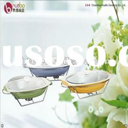 3 size ceramic cooking pot with glass lid to meet difference use