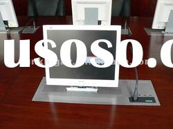 Aluminium panel LCD motorized lift for conference table