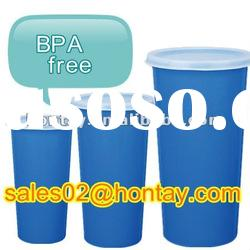 BPA free colored promotion water drinking cup with a cap
