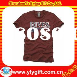 Best Choice, 2012 Customized Short Sleeve Round neck Cut Sewing And Rubber Printng T shirts