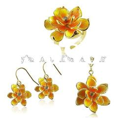 Best seller sterling silver gold plated jewelry set