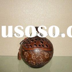 Carved Round Hand Made Decorative Pottery