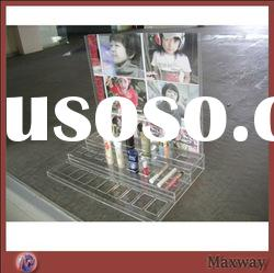 China Wholesale Clear Vertical Acrylic Cosmetic Holder Rack Display