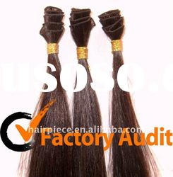 Chinese remy human hair hand tied weft