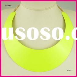 Chunky Big Bib Metal Alloy Necklace, Fashion Lady Accessories
