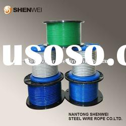 Electric galvanized steel wire rope with PVC(PE) coating
