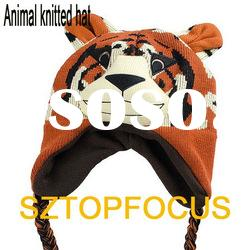 FASHION CUTE KIDS ANIMAL KNITTED HAT FOR WINTER