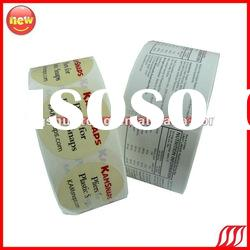 Factory Directly Printing High Quality custom paper label