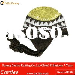 Fashion Jacquard knitted Earflap Hat For Children