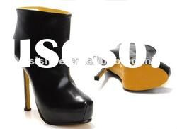 Fashion black platform high heels/ women boots