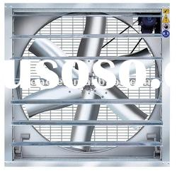 Greenhouse louvered exhaust fan
