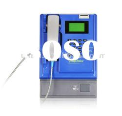 Guanri T506:Coin card PSTN payphone for wall desktop wall mounted