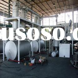Hot sale! pyrolysis recycling used tire refining equipment with capacity 16-20 MT/D