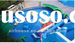 Interesting inflatable commercial water park for amusement