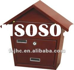 JHC-2014C Unique Design Residential Metal Wall Mounted Mailbox /Locking Letter box/mail box door