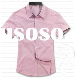 Lovely Pink short sleeve checked shirts for men