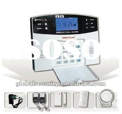 Mobile phone GSM Alarm System With 7 Wired and 99 Wireless Defense Zones (GS-007M2B)