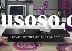 New design wooden high gloss coffee table