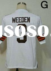 New style jersey Cleveland Browns 3 Brandon Weeden Game white jersey name nad number are stitched
