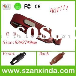 OEM hot selling new design Leather Pen Drive