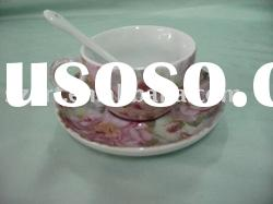 OX033 round porcelain coffee cup and saucer