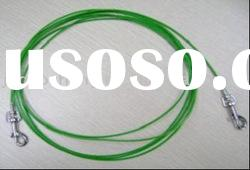 PVC coated steel wire rope, tie out cable for cat